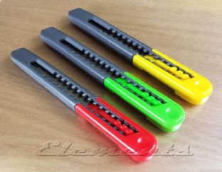 3 x 9mm Snap Off Utility Knives T078